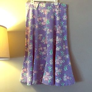 80's floral skirt
